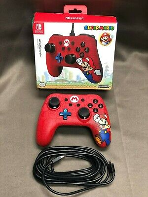 PowerA Wired Mario Controller for Nintendo Switch - Red