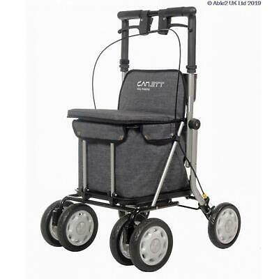 Grey Carlett Rollator/Shopping Trolley with Seat and Brakes
