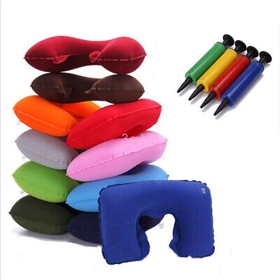 U Shaped Soft Travel Inflatable Neck Pillow Flight Car Head Rest Support Cushion