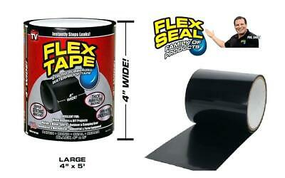 "New Strong WaterProof Flex Tape 4"" x 5' Rubberized Seal Stop Leaks"