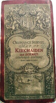 ORDNANCE SURVEY of SCOTLAND map KIRKMAIDEN 3rd edition 1906 sheets 1 & 2