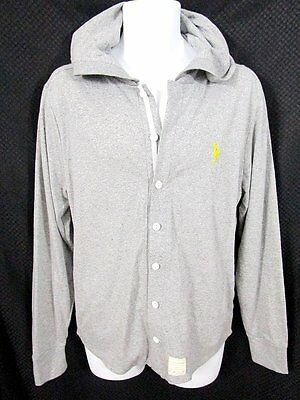 New! FIVE FOUR-MARK McNAIRY Button-Front Shirt/Hoodie Gray Size Medium