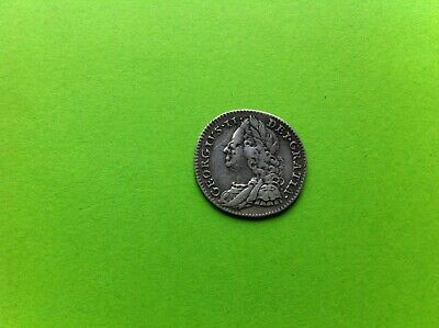 1758 King George II Milled Silver Sixpence