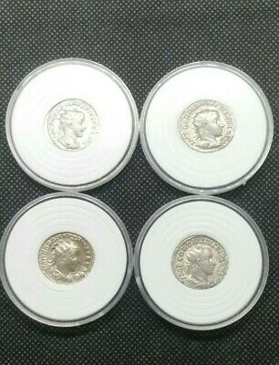 Nice Lot Of 4 Ancient Imperial Roman Silver Coins