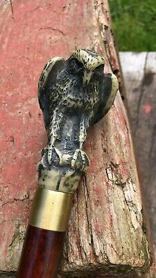 Beautiful Vintage Wooden Eagle Cane Walking Stick *