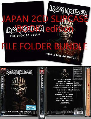 Sigillato W/Raccoglitore Iron Maiden The Book Of Souls Giappone 2CD Custodia in