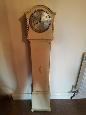 Grandmother Clock Cream Shabby Chic Vintage