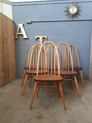 Ercol Dining Chair Vintage Retro Mid Century 4 Available