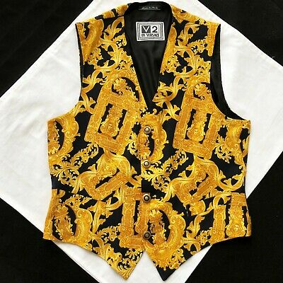V2 by VERSACE cotton vest Baroque Frames print size IT 48 from 1995
