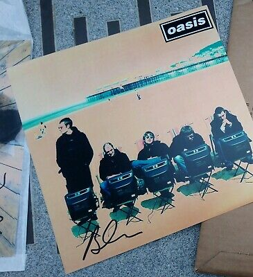 Oasis Brian Cannon Microdot Definitely Maybe Signed Autograph Photo Genuine Rare