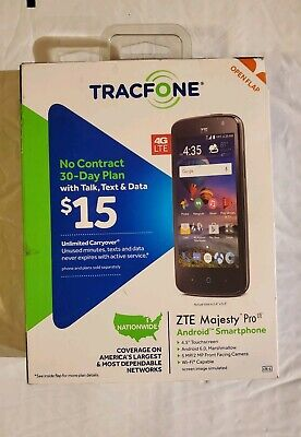 SMARTPHONE ANDROID TRACFONE ZTE Majesty Pro No Contract 4G LTE