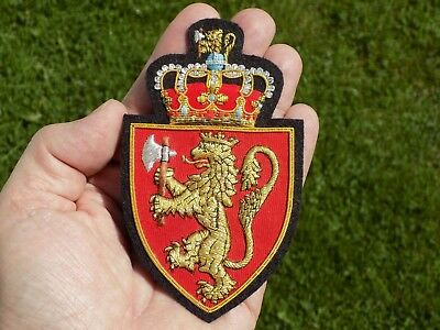 Norsk Norway Norwegian Coat of Arms Badge Patch Hand Made Royal Standard New