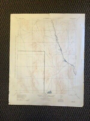 Vintage USGS War Department US Army Engineers Alamo Nevada 1945 Topographic Map