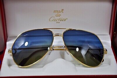 370056e0f8 Vintage CARTIER 1984 Occhiali da sole Special Customize VENDOME Sunglasses  Pavé