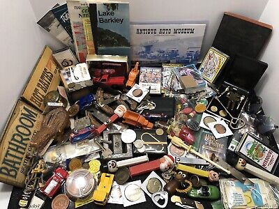 JUNK DRAWER Collectible or resale lot: Tokens, , Cracker Jack Toys, Pins, Maps..