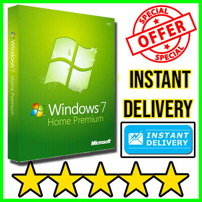 Microsoft Windows 7 Home Premium OEM 32/64 Bit Win Original Key GENUINE 🔥