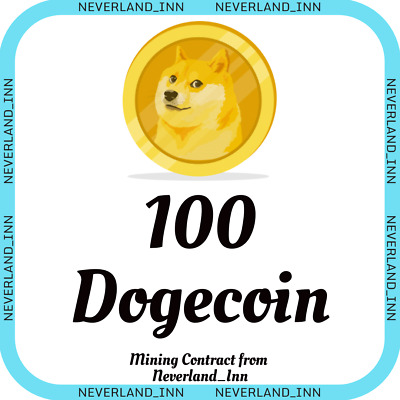 Dogecoin 100 DOGE | MINING CONTRACT | Crypto Currency | Top 31 Coinmarketcap