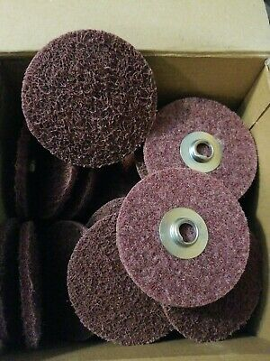 "3"" x 2-TS Maroon Medium Non-Woven Type 2 Quick Change Surface Conditioning Disc"