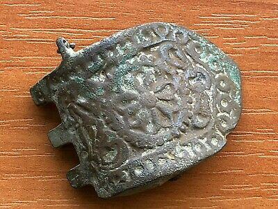 Ancient Byzantine Medieval Bronze Strap End Circa 800-1000 AD Very Rare