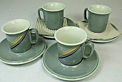 ESPRESSO DEMITASSE SET of 6 Cups And Saucers by ACF Made in