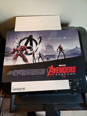 AVENGERS ENDGAME AMC IMAX PROMO Poster & Bonus Captain Marvel Poster INCLUDED!!