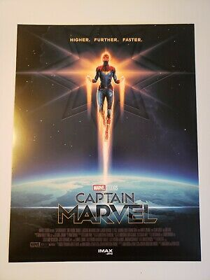 Captain Marvel Original AMC Imax Promo Poster Limited 8.5 x 11 Brie Larson