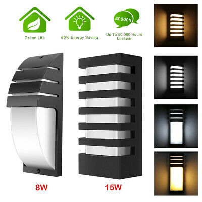 15W LED Wall Sconce Modern Porch Light Wall Lamp Indoor Outdoor Light Fixture US