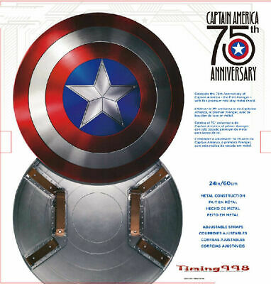 1:1 Captain America 75th Anniversary Avengers Shield Alloy Metal Collect Version