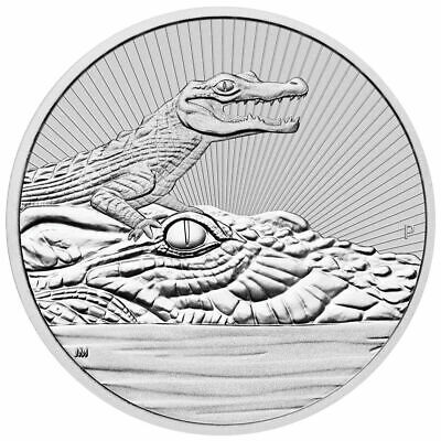 2019  Crocodile 2 oz  Silver Coin  HIGH RELIEF  VERY LIMITED