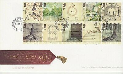 GB Stamps First Day Cover 50th anniv Lord of the Rings,Tolkien CDS Commons 2004