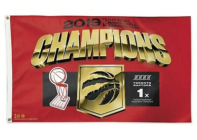 TORONTO RAPTORS 2019 NBA Finals Champions 3x5 Flag Banner Dorm We The North