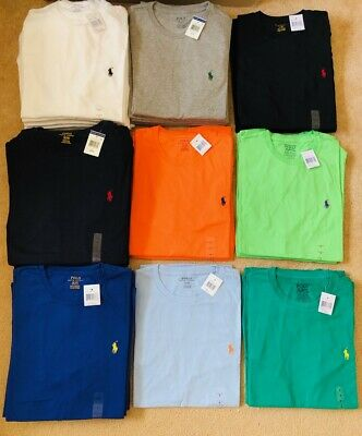 Bulk lot 56 genuine Ralph Lauren Crew Neck Polo shirts small pony work from home