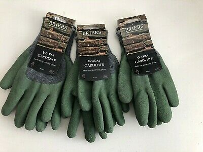 Briers warm gardener gloves B6301 bnwt 3 pairs medium