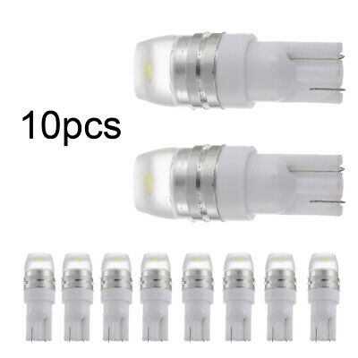 10x T10 2323 1W 12V LED Light Bulbs Dome Map License Plate Interior Lights White
