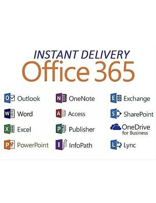 Licence Pack Microsoft Office 365 Valable One Year💯 Garantie Clients Satisfaits
