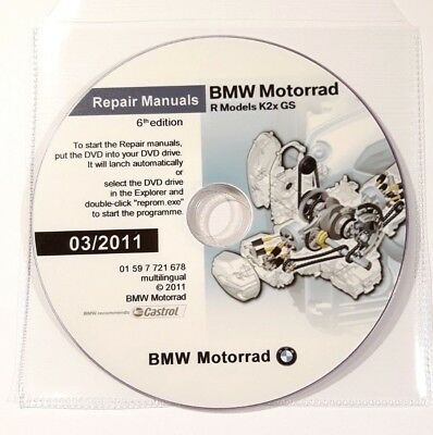DVD MANUALE OFFICINA REPROM WORKSHOP BMW R1200GS - R1200GS-ADVENTURE-6^ed.2011