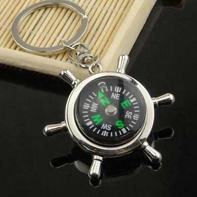 Unisex Fashion Compass Metal Car Keyring Keychain Key Chain Ring Keyfob