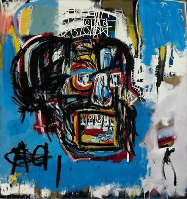"""Jean Michel Basquiat """"Scull"""" Replica Oil Painting on Canvas Wall Picture 28x24"""""""