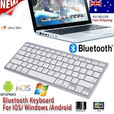 New Ultra Slim Bluetooth Wireless Keyboard For IOS Android Tablet Cellphone Mac