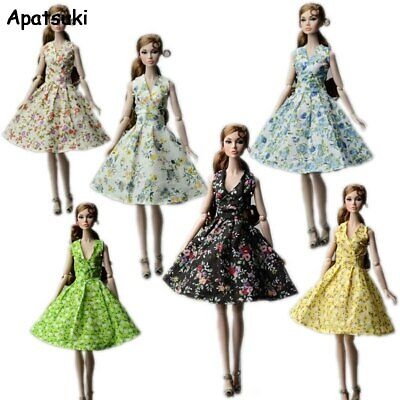 Countryside Floral Dress For Barbie Doll Clothes Party Gown Outfits 1/6 Doll Toy