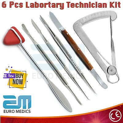 Dental Waxing Carving Mixing Tools Laboratory Technician Set Of 6 Instruments CE