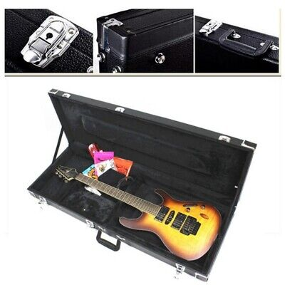 Portable Electric Guitar Case Hard Shell Square Wood for Standard Guitars US New