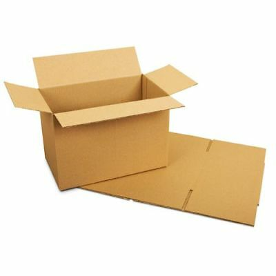 """5 x 19x12.5x14"""" in Brown Single Wall Cardboard Postal Packaging Boxes Cheapest"""