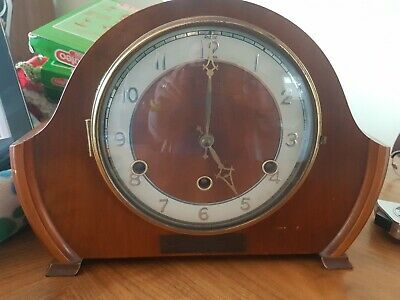 Antique Art Deco Westminster chime mantle clock damaged spares repair Andrew