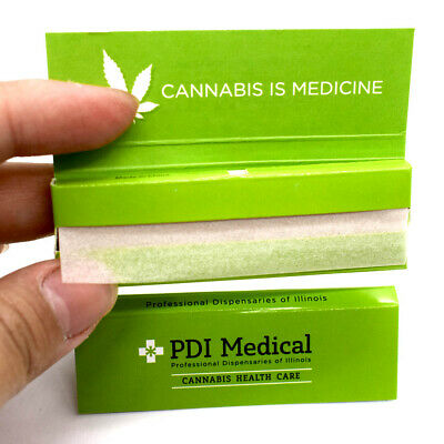 "PD*I ME*DICAL 1.0"" 10 booklets 70*36mm Hemp Cigarette Tobacco Rolling Papers"