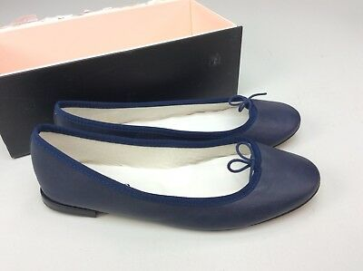 c2b6f49eadf36 Repetto Cendrillon Ballet Flat Classique Blue Ballerina Shoes Size EU 39.5