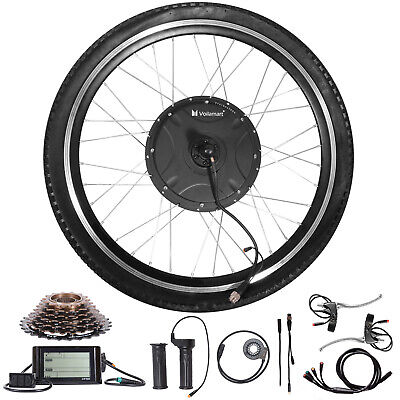"""1500W Electric Bicycle Conversion Kit Rear Wheel Twist Throttle LCD Meter 26""""48V"""