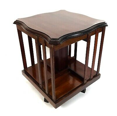 Antique Mahogany Tabletop Revolving Bookcase / Book Rack / Shelf / Stand