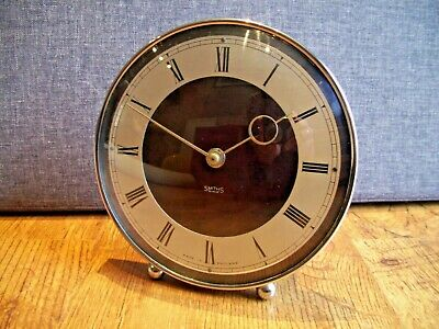 Antique c1930's Smiths Bakelite and Chrome Art Deco Mantel Clock (30 Hour Time)