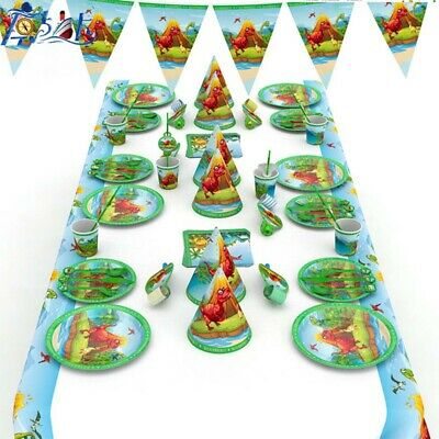Dinosaur Birthday Party Tableware Decoration Napkins Cutlery Table Cover Kids #L